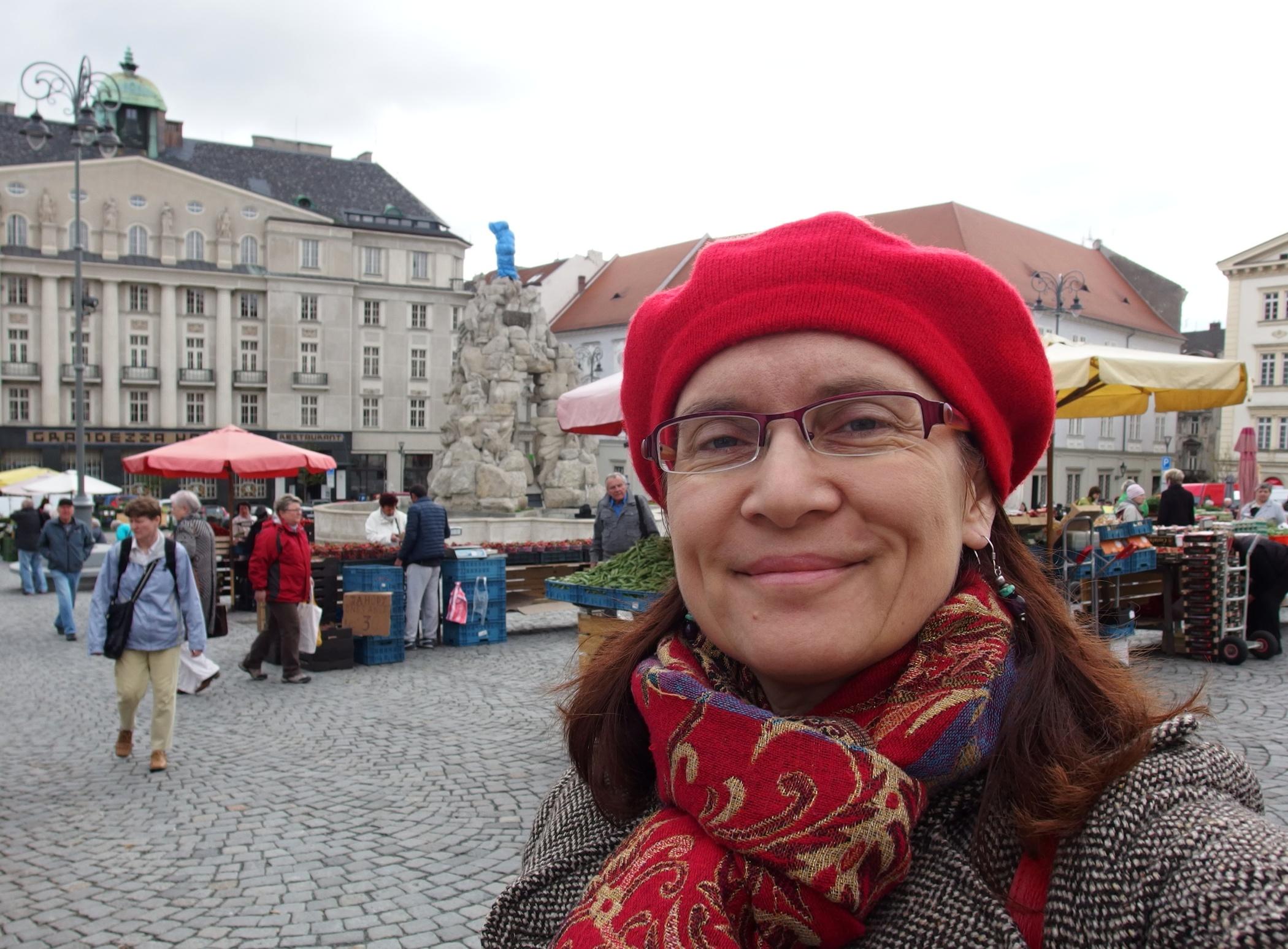 Alena Blažejovská na Zelném rynku