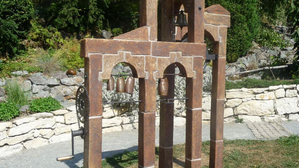 Jeden z exponátů smyslové zahrady v Rudce