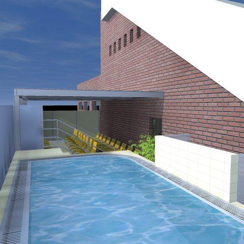 Vizualizace wellness, které by mělo vzniknout v bazénu za Lužánkami