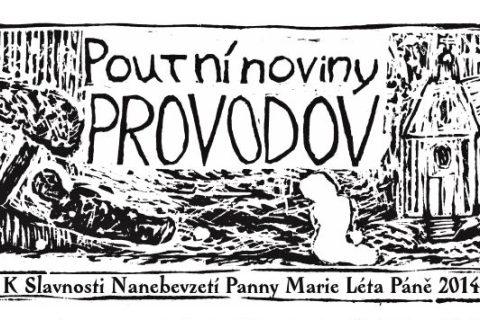 Hlavička Poutních novin Provodov