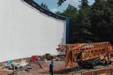 Amfiteátr před dokončením rekonstrukce