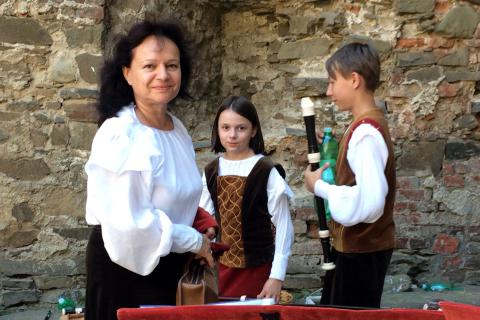 Blanka Vysloužilová, vedoucí souboru Vivat Flauto, na Helfštýně