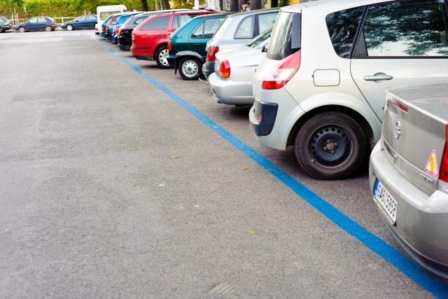 Modrá zona na parkování