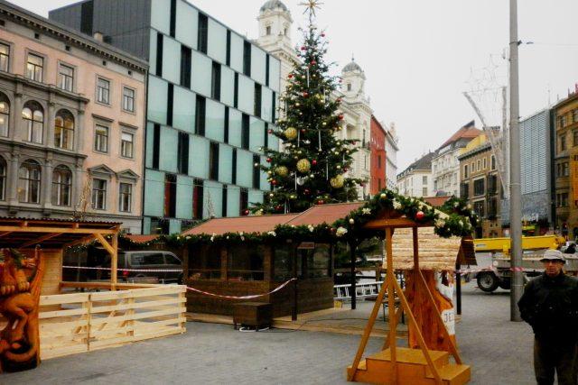 Vánoční trhy na brněnském náměstí Svobody