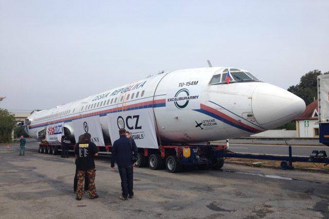 Letecký speciál Tu-154 na trase do leteckého muzea v Kunovicích  | foto: Monika Tomášková
