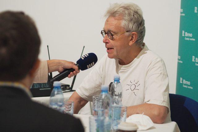 John Mucha ve vysílání Českého rozhlasu Brno | foto: Ludmila Opltová,  Český rozhlas