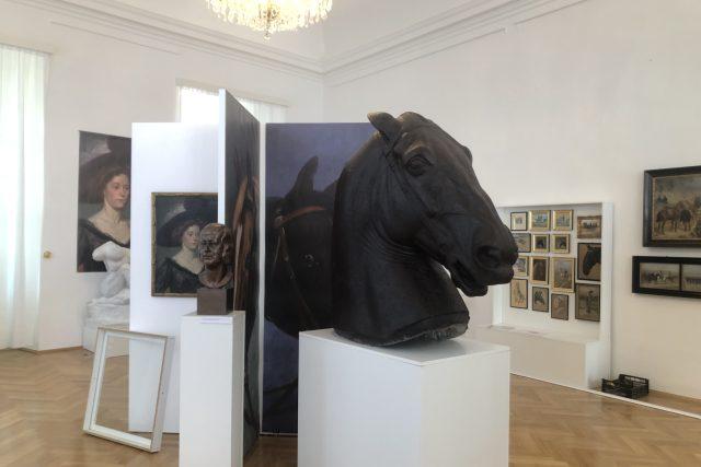 Výstava Střety: Alexander Pock & Hugo Lederer   foto: Petr Tichý,  Český rozhlas