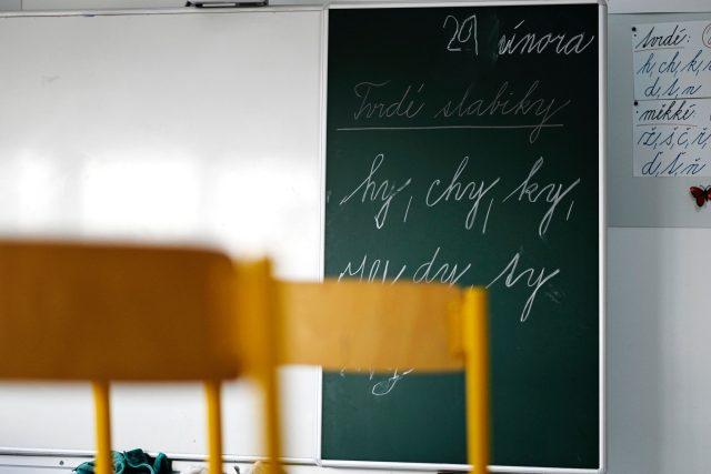 Jaká je škola bez dětí? Do prázdné třídy na Základní škole v Dobřanech nahlédla Jiřina Šmídová