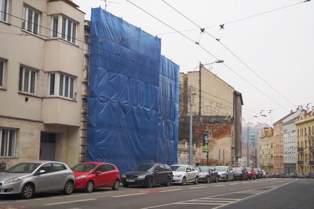 Stavební práce na vile z 19. století na ulici Hlinky v Brně