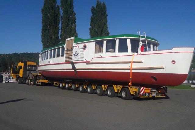 Loď Dallas je zpátky v Brně. Nově ponese název Morava