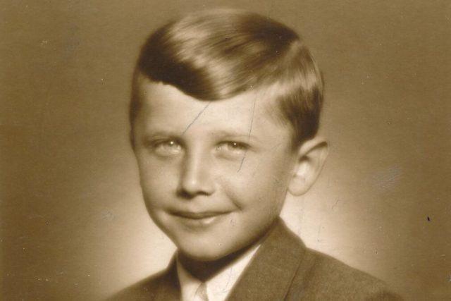 Jan Vodňansky v páté třídě (rok 1950)
