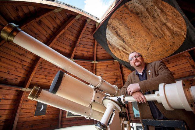 Astronom Miloš Tichý na observatoři Kleť   foto: Fotobanka Profimedia