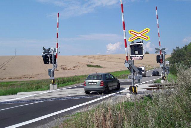 Železniční přejezd, Bystřice nad Pernštejnem