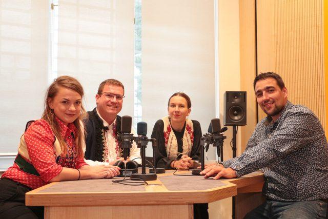 Tvůrci pořadu Na pěknú notečku Marie Hvozdecká, Jan Káčer, Anežka Konečná a Jaroslav Kneisl