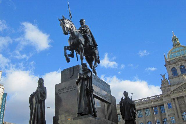 Socha svatého Václava v Praze | foto: Elena Horálková,  Český rozhlas