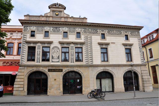 Lékárna U Zlaté koruny Uherské Hradiště | foto: Wikimedia Commons,   Dr Janos Korom, Wikipedia Commons CC BY-SA 2.5