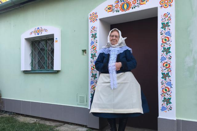 Marie Švirgová v kroji | foto: Karolína Peřestá,  Český rozhlas
