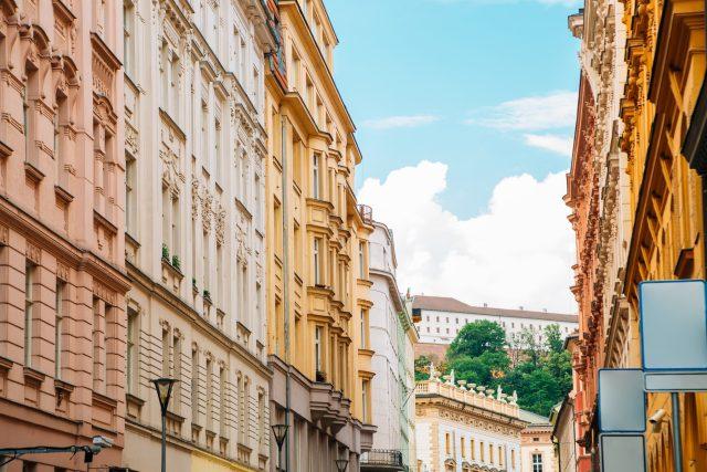 Budovy v centru Brna